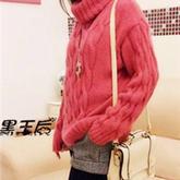 棒针编织韩版高领麻花毛衣 女士毛衣视频教程