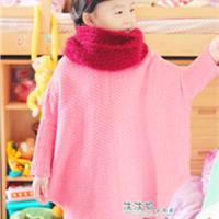 女童钩针编织蝙蝠袖布袋衣
