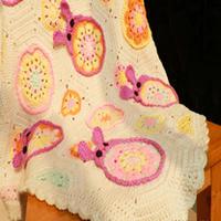 可爱的钩针编织宝宝兔子毯