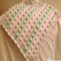 小清新钩针编织宝宝毯休闲盖毯