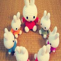 米菲兔开会 钩针米菲兔图解教程