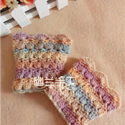 冬季温暖小物 棒针编织护腕套
