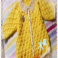 婴幼儿蕾丝领钩针编织小开衫