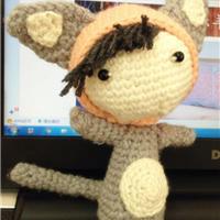 钩针玩偶图解之带帽猫咪娃娃