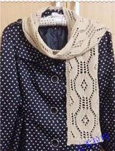 云柔 棒针编织拉哈围巾