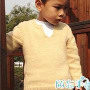 男童简约百搭棒针套头毛衣