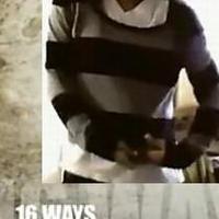 潮人穿搭 一件毛衣穿出16种效果