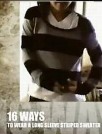 一件毛衣穿出16种效果
