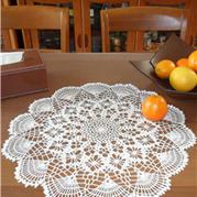 手工编织钩针桌垫