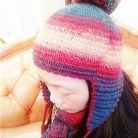 超简单绒球钩针护耳帽及围巾