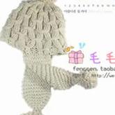零基础学棒针编织时尚护耳帽