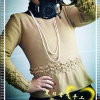 名媛风棒针编织裙摆式套衫