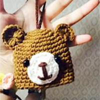 萌熊钩针编织钥匙包视频教程