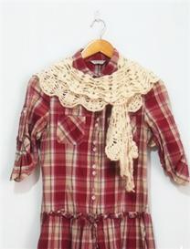 文艺风钩针编织两用围巾领饰