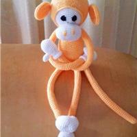 迈克猴子 钩针编织萌猴图解翻译教程