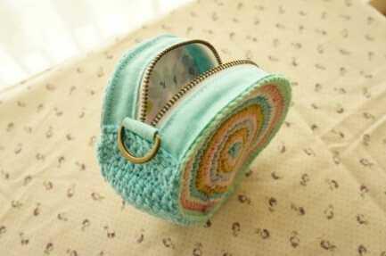钩针编织零钱包 绝佳的手工礼物