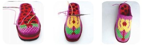 钩针编织拖鞋