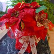 钩针编织圣诞花 永不凋谢的圣诞红