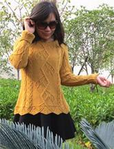 棒针编织女士阿卡羊驼套头衫