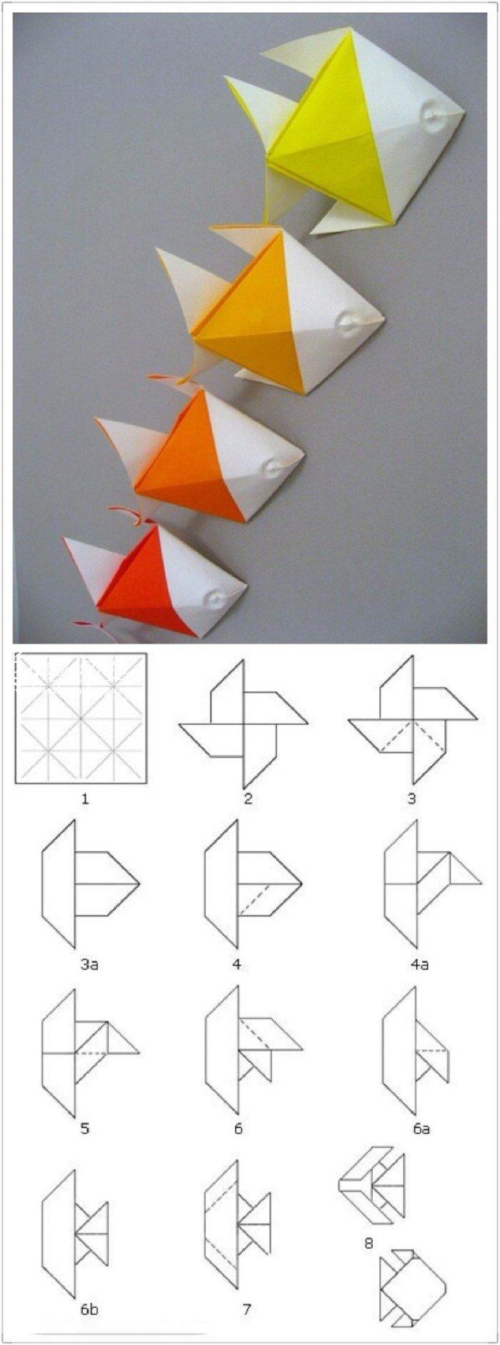 折纸大全 小鱼儿手工折纸