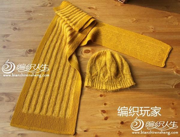 围巾帽子套装