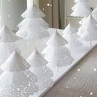 手工DIY圣诞小物之纸艺圣诞树与雪花