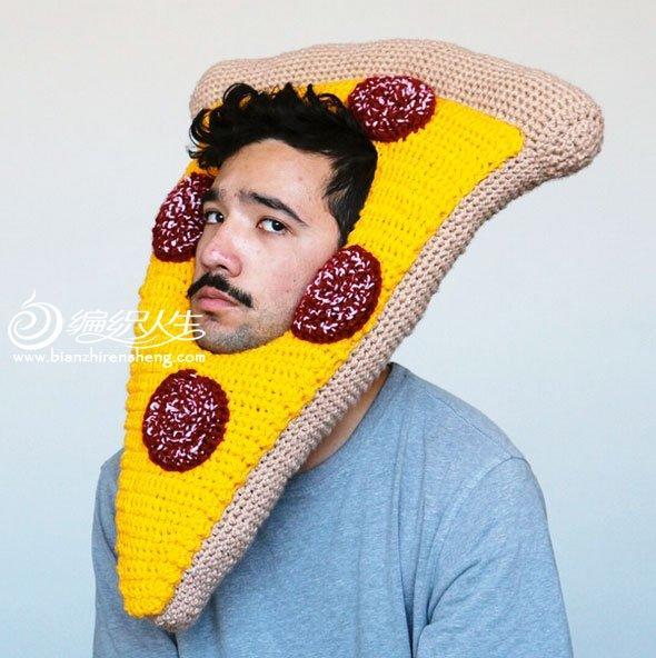 钩针披萨帽