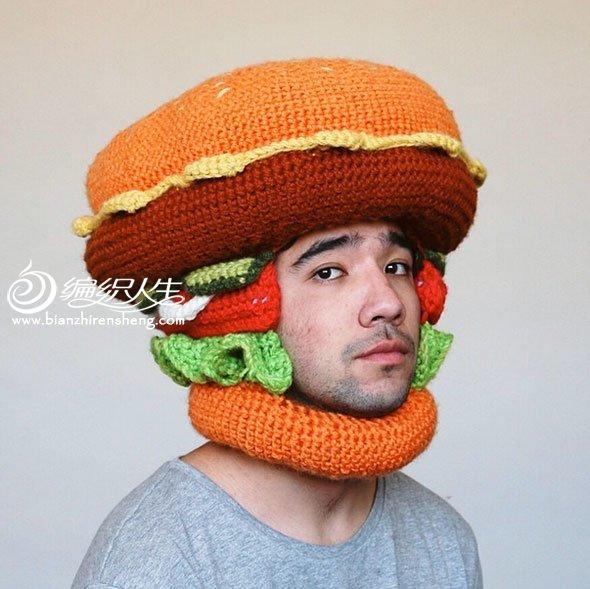 钩编趣味帽