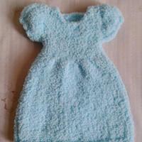 珊瑚绒棒针芭比公主裙式擦手巾