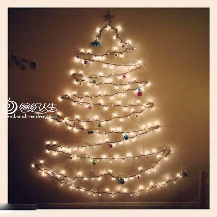 简单线条圣诞树贺卡 树灯DIY