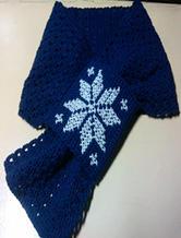 十字绣雪花北欧花样钩针圣诞围巾