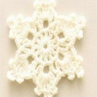 圣诞风物之钩针雪花片的钩织视频教程