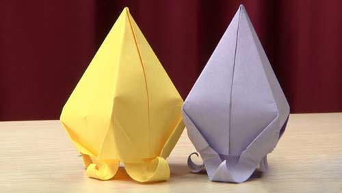 折纸大全 风铃草折纸图解教程 -折纸大全 风铃草折纸 编织人生移动门图片