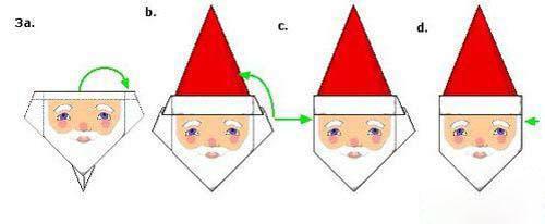 折纸大全 圣诞老人头像的折纸图解教程