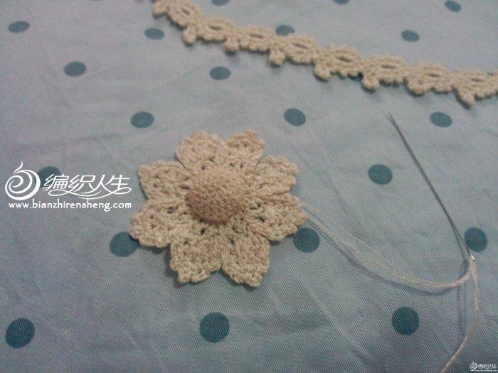 原图及图解       过程图:   按图解钩织项链条及花朵