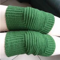 温暖棒针编织保暖护膝