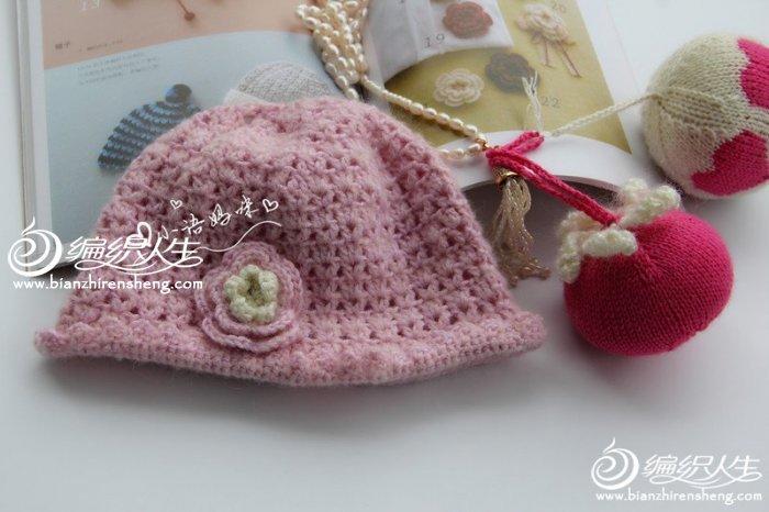 钩针花朵帽
