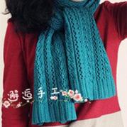 仿雨枫翻译的棒针邂逅长款围巾
