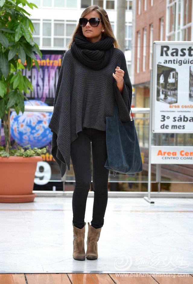 2015年毛线编织斗篷毛衣款式精选