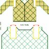 自由拼衣 各种形状的拼花服饰结构图
