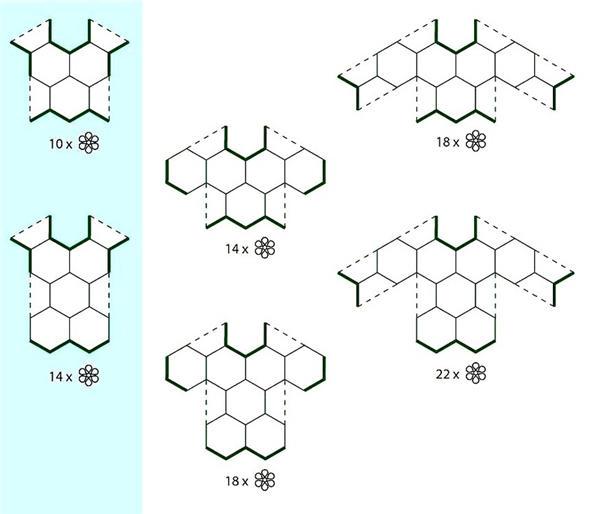 以下演示了圆形,三角形,正方形,六边形的拼花结构:   圆形 相关标签