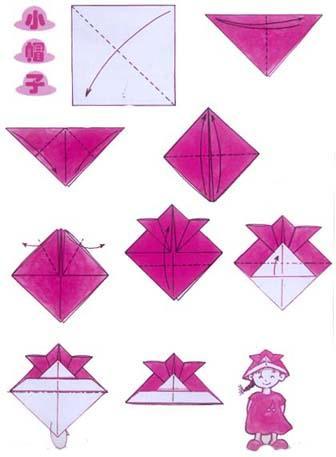 折纸大全 手工折纸小帽子