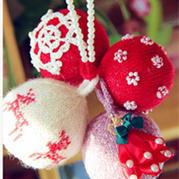 针织圣诞装饰之棒针编织球球