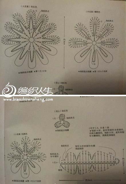 钩针编织牡丹花教程-编织教程-编织人生