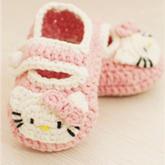 Hello Kitty婴儿鞋 超详细钩针婴儿鞋子视频教程