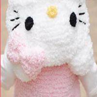 新妈咪Hello Kitty绒绒线马甲 儿童棒针毛衣视频教程