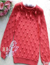阿卡浪漫球球套头毛衣儿童版 女童棒针毛衣
