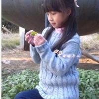 女童棒针麻花毛衣