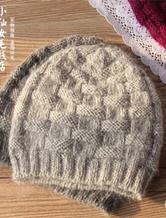 适合老年人戴的棒针编织貂绒帽