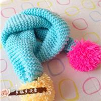 只要会拿棒针就能织的一款简单实用萌萌哒围巾